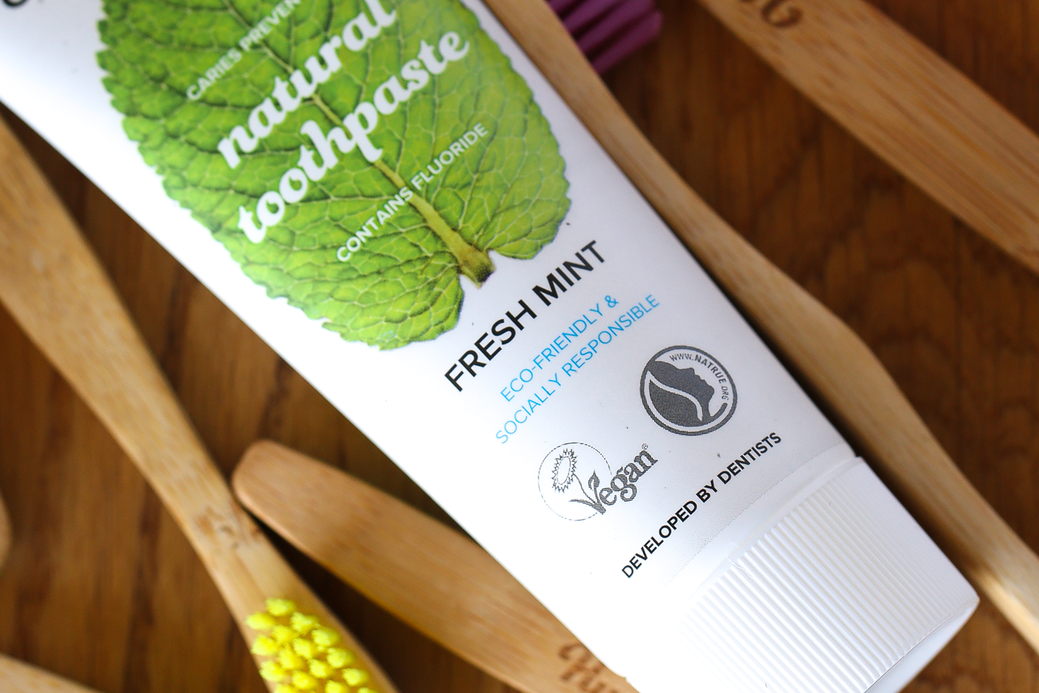 Natural toothpaste packaging design